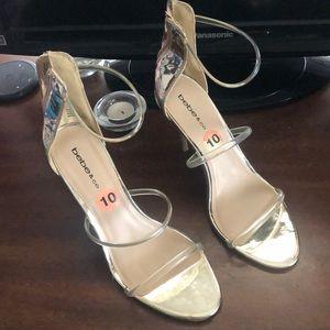 COPY - BeBe Berdine Stappy sandals gold clear str…